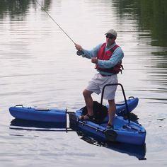 The Only Stand Up Fisherman's Kayak - Hammacher Schlemmer