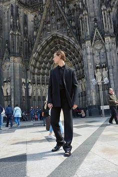 Balenciaga jacket, shirt, and pants in black Celine, Fendi, Valentino, Balenciaga Jacket, Saint Laurent, Fall Winter, Autumn, Fashion Editor, Dress Up