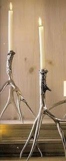 Roost Polished Antler Candlesticks & Pillar Holders - eclectic - candles and candle holders - by zhush