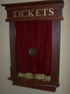 Faux ticket booth idea