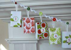 Christmas Advent Calendar Garland
