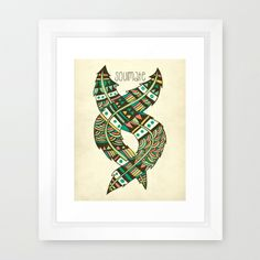 Soulmate Feathers Framed Art Print #soulmate #Tribal #Tribalfeather #feather #home #decor #inspirational #poster #decorideas #Tribaldecor