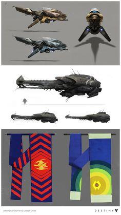 Destiny concept art - Joseph Cross Fallen drop ship and pikes Mechanical Art, Mechanical Design, Alien Soldier, Destiny Fallen, Hover Bike, Flying Vehicles, Concept Art World, Sci Fi Ships, Concept Ships