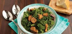 This menu staple is known for its soupy dressing and highly processed croutons. Here, we've swapped out romaine lettuce for nutrient-dense kale and elevated the croutons by using high-fiber pumpernickel. But a stellar Caesar really gets its swagger from a great dressing that should always include egg yolk and those sustainable, briny swimmers known as anchovies. Also consider serving with shavings of high quality Parmesan.