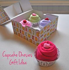 Cupcake Onesies Baby Gift Idea