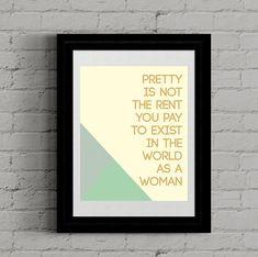 Digital wall art, Printable art, Downloadable print, Wall Decor, Poster, 5x7, 8x10, 11x14, 16x20, Digital print, Feminist Quote