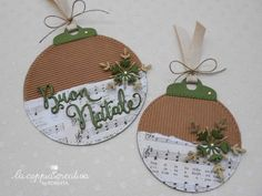 It & # already christmas - The creative couple Christmas Ornament Crafts, Christmas Gift Tags, Christmas Crafts For Kids, Handmade Christmas, Holiday Crafts, Christmas Decorations, Christmas Couple, Scrap, Kitty Wallpaper