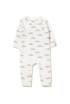 mini ls romper, WHITE/MEMPHIS CLOUD