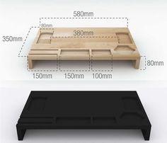 Multi-purpose Wood Monitor Stand  Storage Organizer