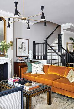 Living Room Sofa, Home Living Room, Living Spaces, Living Room Inspiration, Home Decor Inspiration, Home Interior, Interior Decorating, Interior Plants, Design Salon