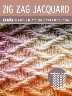 Zig Zag Jacquard Slip Stitch Pattern - Hand Knitting Stitches Zig Zag Jacquard Slip Stitch Pattern - Hand Knitting Stitches Always aspired to learn to knit, yet uncertain the place t. Slip Stitch Knitting, Knitting Stiches, Hand Knitting, Knit Stitches, Cross Stitch Patterns, Knitting Patterns, Knitted Washcloths, Ladder Stitch, Knitting For Beginners