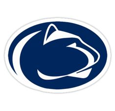 Show your team spirit proudly with this 12 inch die-cut vinyl magnet. The Penn State Nittany Lions car magnet is die-cut in the shape of the team logo. Made of heavy gauge magnetic vinyl, this magnet sticks to any metal surface. This die-cut vinyl. Penn State Athletics, Penn State Logo, Lion Head Logo, Lion Logo, Football Outline, Lion Games, Pennsylvania State University, Team Mascots, Logos