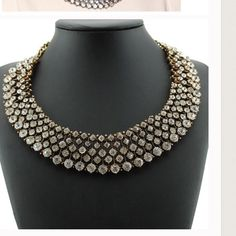Last one💥💥💥 price dropped This perfect necklace for any occasion. You can wear it with anything from dress up to casual wear. Its a must have and you will definitely get compliments. Gold plating. material: alloy, crystal, zinc. New in package. Retail Jewelry Necklaces