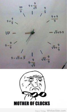 Mother Of Clocks! :-P #funny #geek