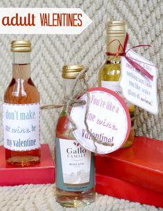 Three adult wine valentine printables! #valentines