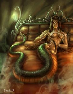 """GREECE's_Echidna: Half woman half snake, Echidna known as the """"Mother of All Monsters"""" because most of the monsters in Greek mythology were her offspring."""