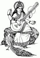 Display image coloriage-inde-saraswati