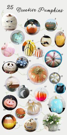 great round up -- 25 Creative Pumpkins