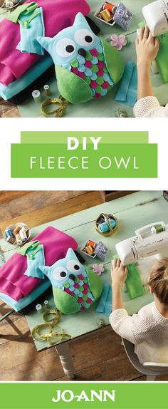 Your little one is sure to hoot with happiness when you make her this DIY Fleece Owl! You'll be amazed at how easily colorful fabric transforms into a cozy decoration and stuffed animal for her room. Try this project now that uses beginner sewing techniques.