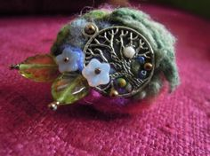 Brooch  Textile and beading by SharpTomato on Etsy, £12.00