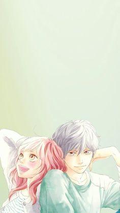 Kou and Futaba - Ao Haru Ride I Love Anime, Awesome Anime, Studio Ghibli Wallpaper, Ao Haru Ride Kou, Futaba Y Kou, Tsubaki Chou Lonely Planet, Blue Springs Ride, Romantic Manga, Fanart