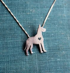"""""""Sterling Silver Great Dane (cropped) Pendant and Chain"""""""
