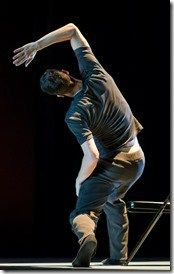 Hubbard Street dancer Andrew Murdock in Waxing Moon, choreographed by Robyn Mineko Williams. (photo credit: Todd Rosenberg)