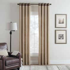 Cambria® Malta Remix Grommet Top Window Curtain Panel - BedBathandBeyond.com