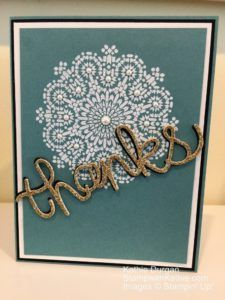 Stampin' Up! Moroccan Nights, Thank You