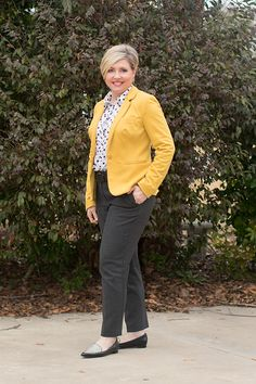 Savvy Southern Chic: Polka dot top Winter to Spring, Spring outfit, work outfit, womens office outfit