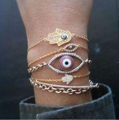 Evil Eye and Hamsa Bracelets for Good Luck