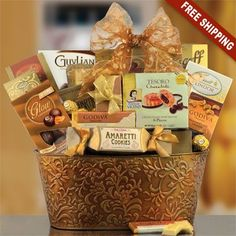 Imperial Gourmet Gift Basket * Detailed information can be found by clicking on the VISIT button Coffee Gift Baskets, Housewarming Gift Baskets, Wedding Gift Baskets, Kids Gift Baskets, Gift Baskets For Women, Themed Gift Baskets, Gourmet Gift Baskets, Christmas Gift Baskets, Amaretti Cookies