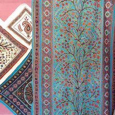 Gorgeous patterns and colors at a #pateh shop  Pateh or needlework is a traditional art done by Kermanian women for generations.