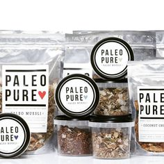 Pure Paleo - Muesli Packaging | Granola Packaging #creativepackaging #standuppouches curated by Copious Bags™