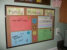 Family Message Center Dry Erase Board