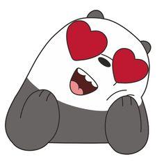 Stickers Panda, Kawaii Stickers, Cool Stickers, We Bare Bears Wallpapers, Panda Wallpapers, Cute Cartoon Wallpapers, Cute Panda Wallpaper, Bear Wallpaper, Disney Wallpaper