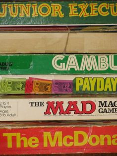 Old board games in my parents' closet