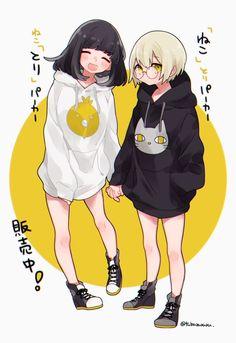 Pin by ルミネ on アニメ / ᴀɴɪᴍᴇ ☆ in 2019 Anime Girlxgirl, Yuri Anime, Anime Guys, Anime Girl Cute, Kawaii Anime Girl, Anime Art Girl, Friend Anime, Anime Best Friends, Kawaii Drawings