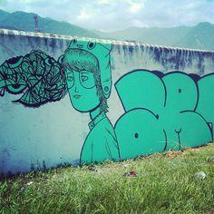 Graffiti - Rei Blinky, Honduras. #ReiBlinky #streetart #urbanart #color #art #honduras #graffiti