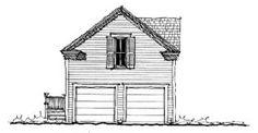 Garage Plan 73805 - Historic Style 2 Car Garage ApartmentPlan with 484 Sq Ft, 1 Bed, 1 Bath Garage Loft Apartment, Garage Apartments, Apartment Plans, Garage Shed, Garage Plans, Car Garage, Dream Garage, Garage Ideas, Carriage House Plans