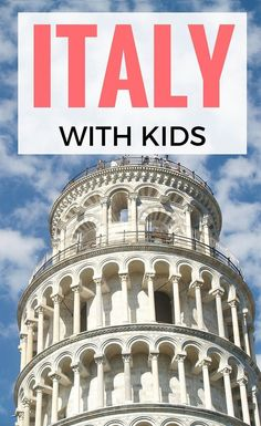 Our guide to Italy with kids! Where to go, what to do, where to stay, what to eat and detailed city guides. http://www.wheressharon.com/country/italy-travel-blog/