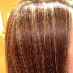Highlights of red and blonde! about what I have now but could go for some more red