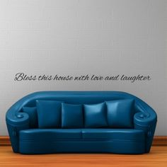 Bless this house with love and laughter quote wall decal $29