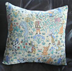 Alice in wonderland pillow cushion cover case sham One 16 x 16 inch. $35.00, via Etsy.