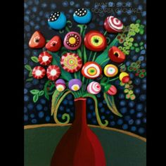 Bouquet di fiori Plant Painting, Feather Painting, Stone Painting, Mosaic Garden, Mosaic Art, Hobbies And Crafts, Arts And Crafts, Coral Art, Rock And Pebbles
