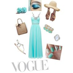 Designer Clothes, Shoes & Bags for Women Blue And White Dress, Outfit Ideas, Turquoise, Shoe Bag, Womens Fashion, Outfits, Collection, Shopping, Dresses