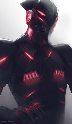 SCiFi by Pixelationer on DeviantArt Fantasy Character Design, Character Design Inspiration, Character Concept, Character Art, Futuristic Armour, Futuristic Art, Robot Concept Art, Armor Concept, Fantasy Armor