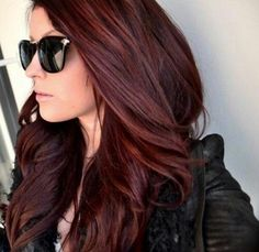 Chocolate Cherry hair color, beautiful for fall by Chr1stine