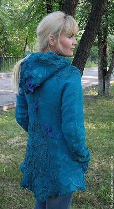 Верхняя одежда ручной работы. Ярмарка Мастеров - ручная работа Куртка валяная с капюшоном Мэгги. Handmade.