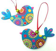 Arty-chicks by Em at Artichicks Bird Crafts, Diy Home Crafts, Diy Arts And Crafts, Clay Crafts, Felt Crafts, Crafts For Kids, Diwali Diy, Diwali Craft, Art N Craft